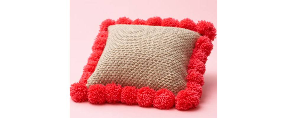 Pompom Throw Pillow