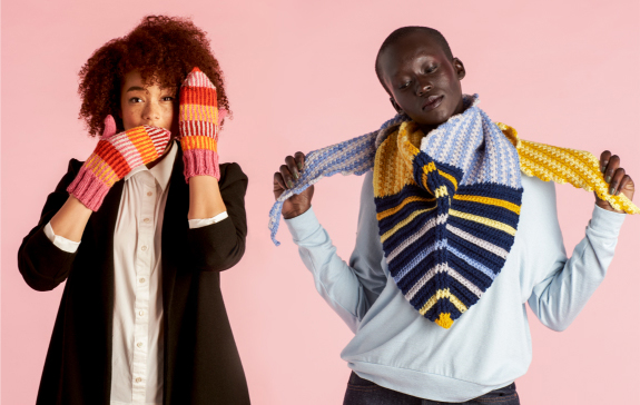 Caron Dynamic Shape Crochet Shawl