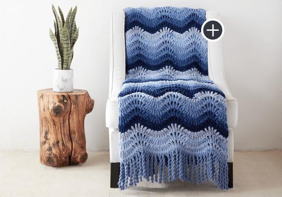 Intermediate High Tide Crochet Blanket