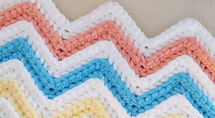 Custom Simple Chevron Baby Blanket