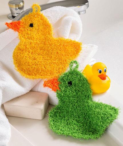 Rubber Ducky Scrubbies Free Crochet Pattern LW5252