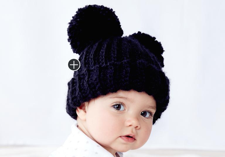 Easy Adorable Pompom Crochet Hat