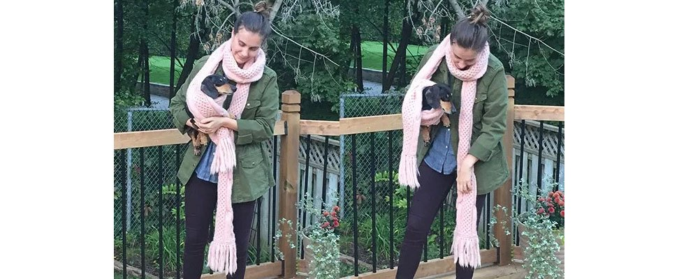 Honey Comb Twist Knit Super Scarf in Patons Classic Wool Roving