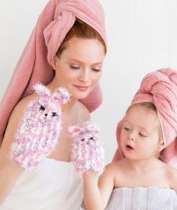 LW5169 Mom & Me Bunny Scrubby Mitts