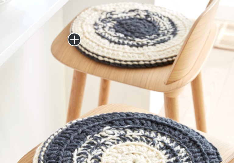 Easy Crochet Marled Chair Pad