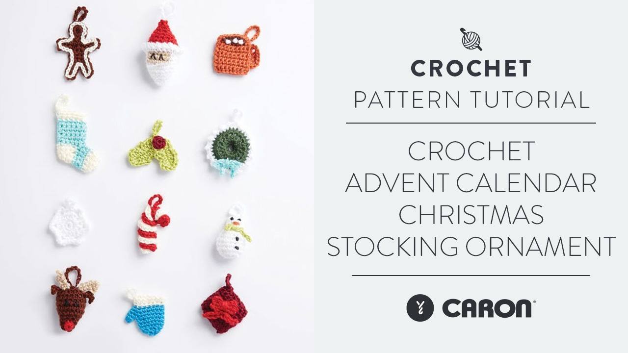 Crochet:  Advent Calendar Christmas Stocking Ornament