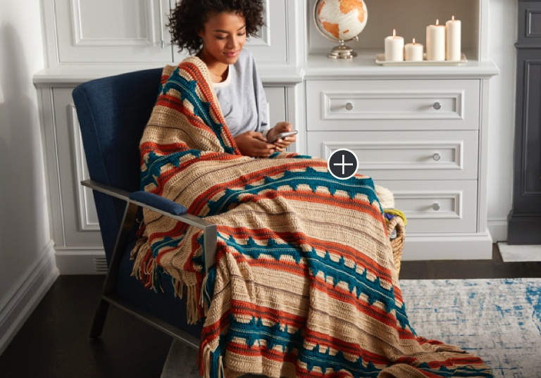 Easy Southwest Stripe Crochet Blanket