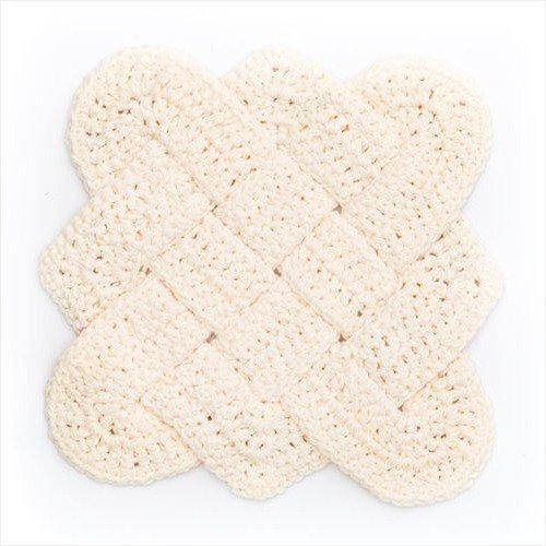 Free Crochet Pattern - Sailor's Knot Dishcloth in Lily Sugar'n Cream yarn