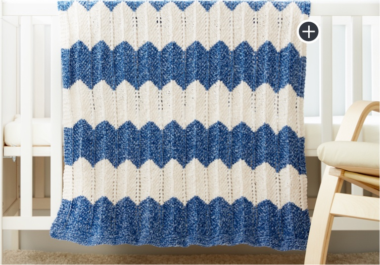 Easy Knit Waves Blanket