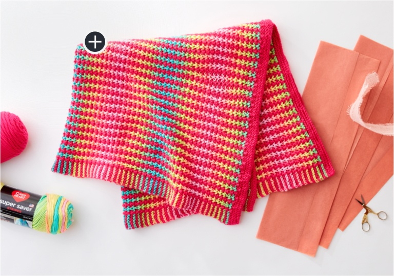 Easy Tweedle Doo Knit Blanket