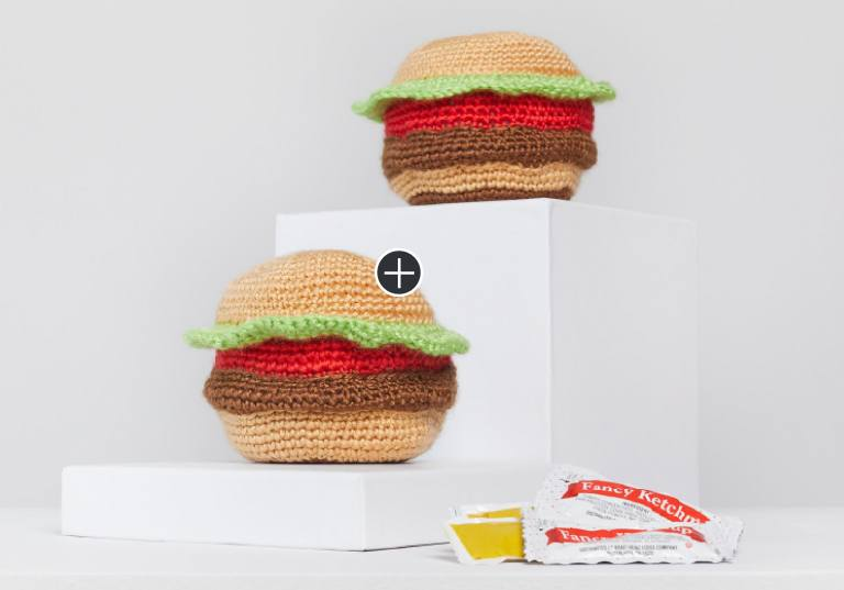 Easy Tasty Crochet Hamburgers