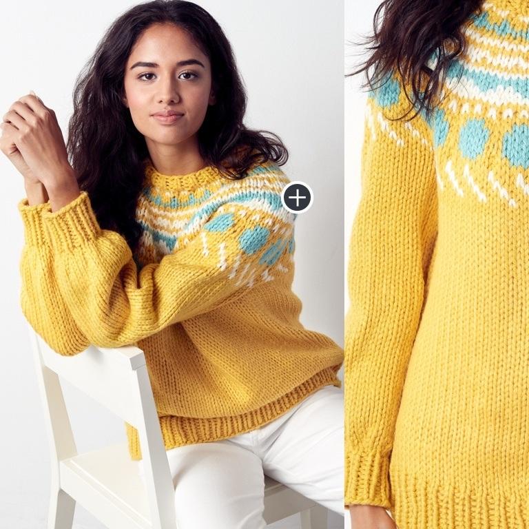 Intermediate Circle Around Knit Pullover