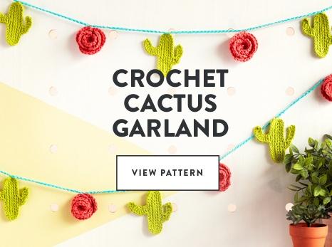 Crochet Cactus Garland