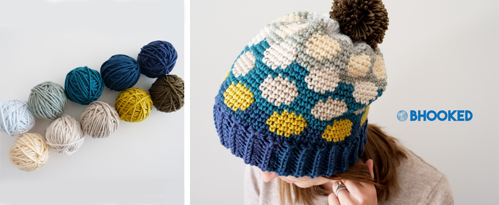 Polka Dotty Crochet Hat in Caron x Pantone yarn af9b22c4659d