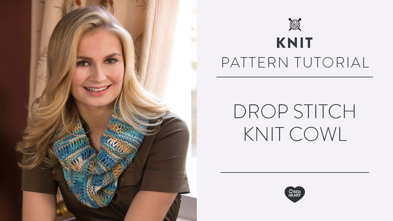 Drop Stitch Knit Cowl