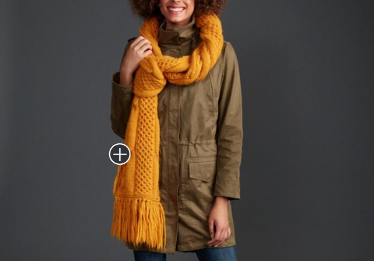 Intermediate Honeycomb Twist Knit Super Scarf