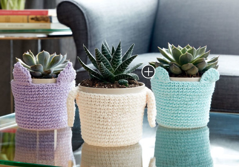 Easy Crochet Pot Pals