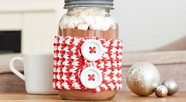 Peppermint Mug Hug and Jar Hug Gift Set