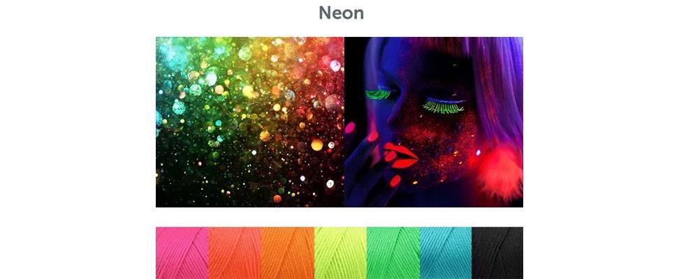 Neon Crochet Mood Scarf in Caron Simply Soft yarn