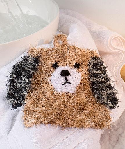 Puppy Scrubby Free Knitting Pattern LW5235