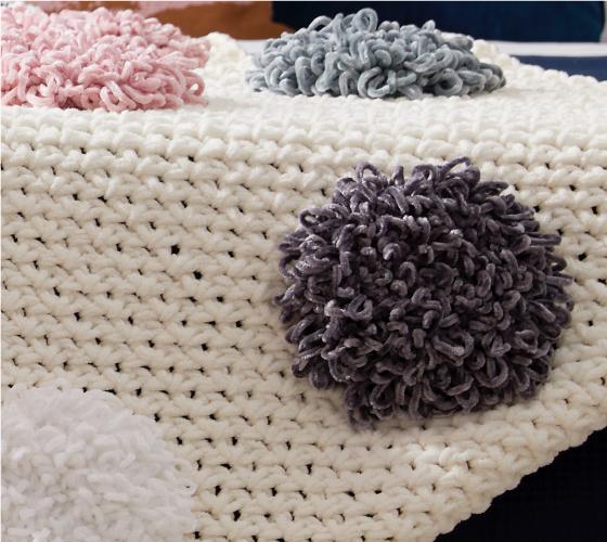 Bernat Loopy Dots Crochet Blanket 1