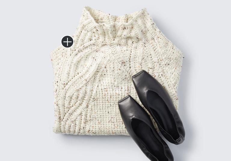 Intermediate Texture Shifts Knit Sweater