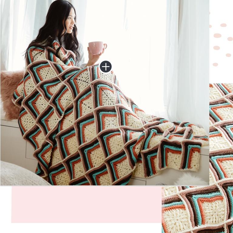 Intermediate New Motif Crochet Blanket