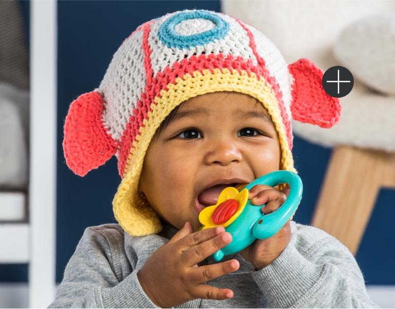 Bernat Crochet Baby Rocketship Hat