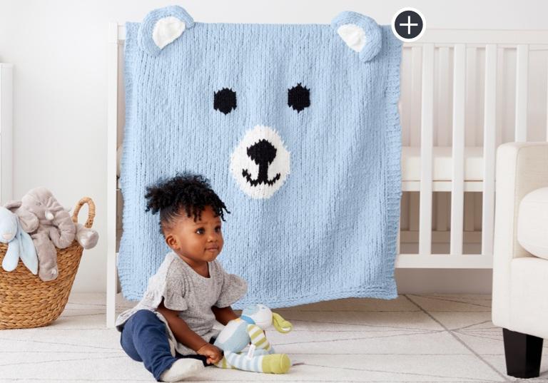 Intermediate Bear-Y Cozy Knit Blanket