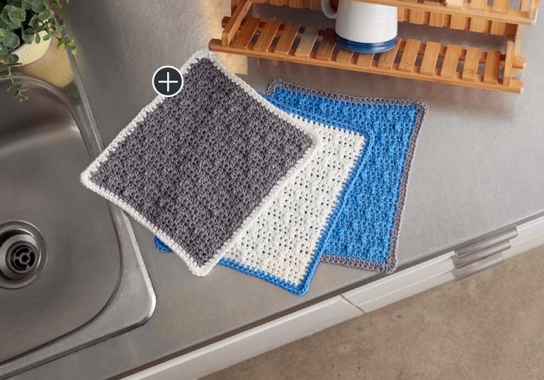 Easy Scrubbing Up Crochet Dishcloth