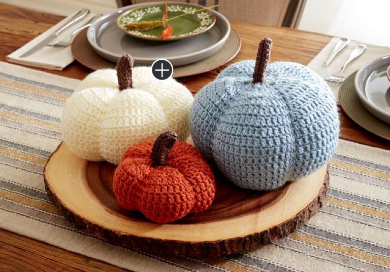Easy Harvest Crochet Pumpkins