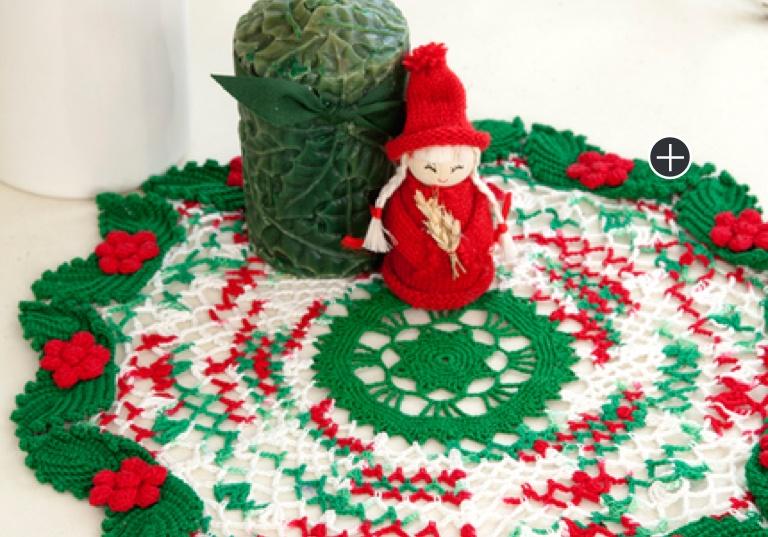 Experienced Crochet Holly & Lace Doily