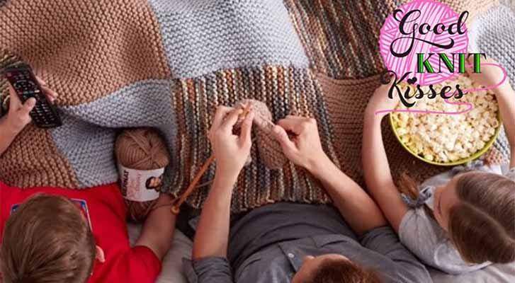 Learn to Knit this easy Blanket!