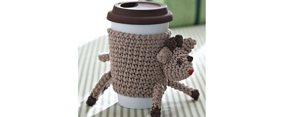 Crochet Reindeer Cup Cozy