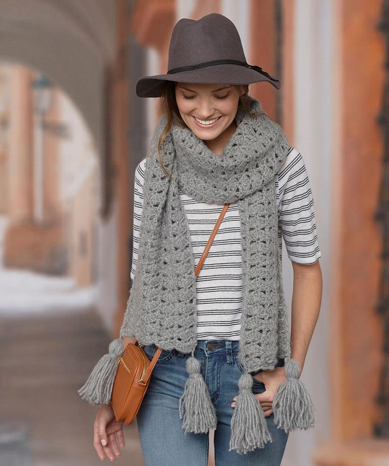 Daydream Scarf Free Crochet Pattern LW5793