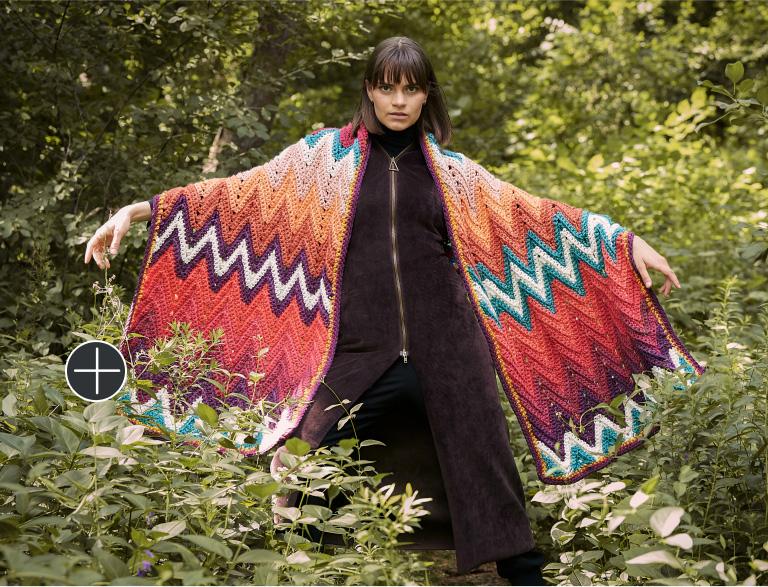 Easy Caron Zigzag Time In Crochet Shawl