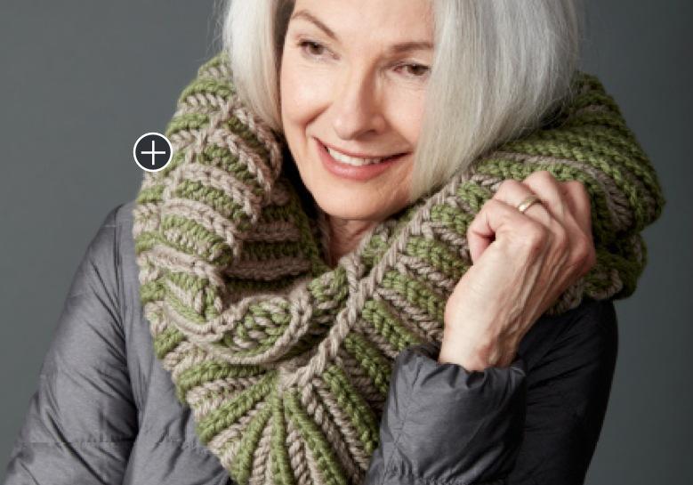 Intermediate Brioche Accent Knit Cowl