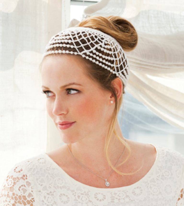 Intermediate Crochet Wedding Headdress