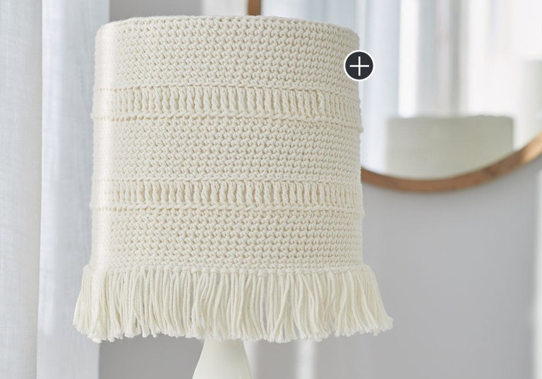 Easy Crochet Coastline Lampshade Cover