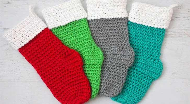 Caron Simply Soft Christmas Stocking