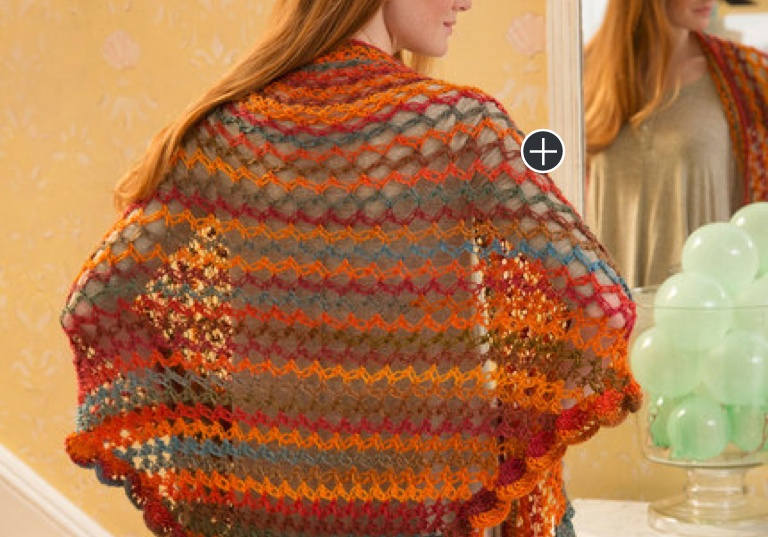 Intermediate Summer of Love Crochet Shawl