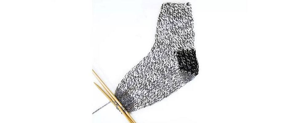 Knit Slouchy Socks Instep Decreases