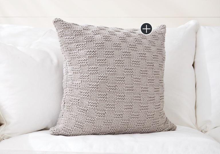 Beginner Beachside Knit Pillow