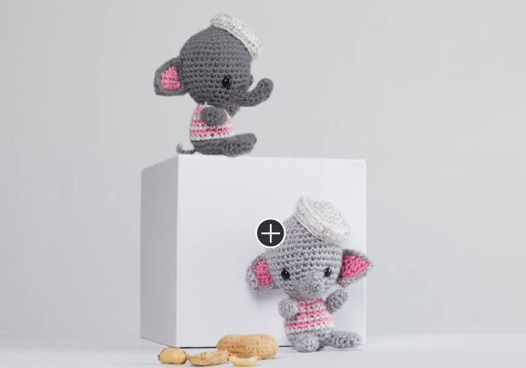 Easy Ellie and Eugene Crochet Elephants