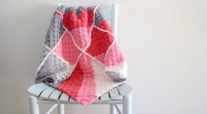 Bernat Pop! Geometric Baby Blanket