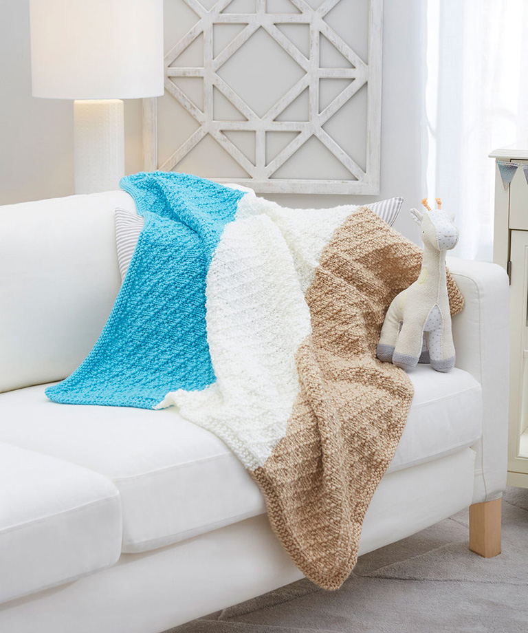 Diamonds for Baby Knit Blanket Free Pattern LW6072