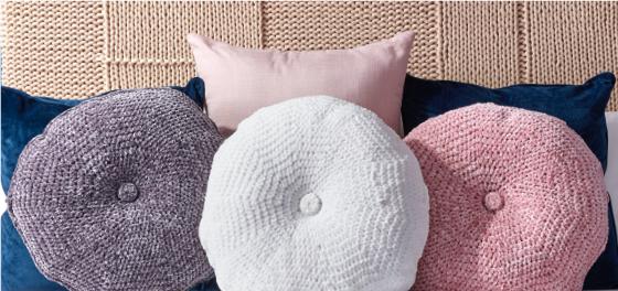 Bernat Velvet Tufted Crochet Pillow  3