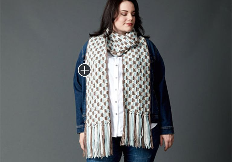 Easy Check Yourself Crochet Scarf