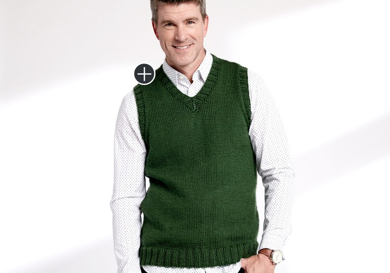 Easy Knit V-Neck Vest
