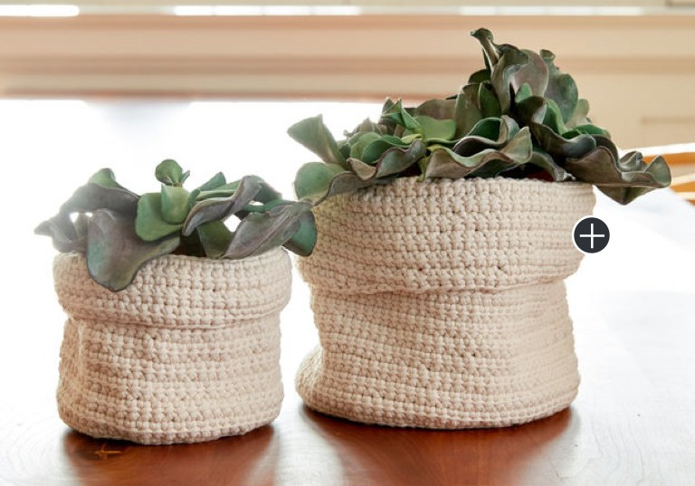 Easy Slouchy Crochet Plant Holders